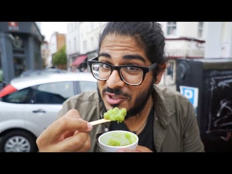MUSHY PEAS TASTE TEST! American in the UK! - Hastings, England