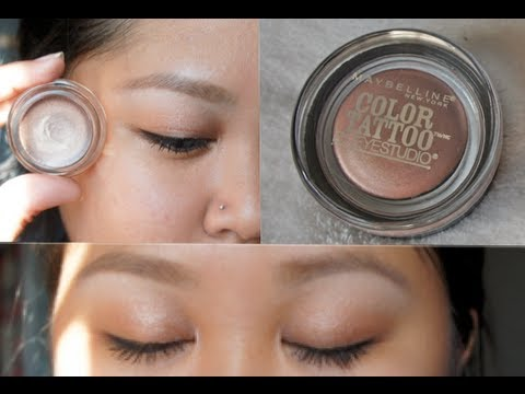 Maybelline Color Tattoo 24hr Cream Gel Eyeshadow Review Demo