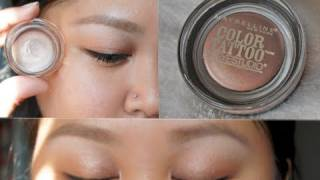Maybelline Color Tattoo 24HR Cream Gel Eyeshadow Review Demo