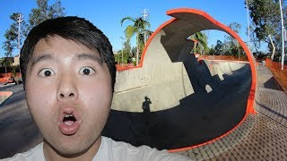 CRAZY FULL PIPE AT NEW SKATE PARK! (10K SUBSCRIBER GIVEAWAY!)