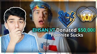 I Donated $50,000 To Ninja To Cure His Ligma- Fortnite *Emotional*