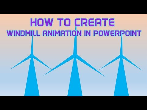 How to create animation windmill in PowerPoint | Maksud Hasan | Versatile Forum | Electricity