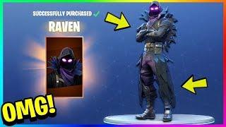 """NEW """"RAVEN"""" SKIN GAMEPLAY in FORTNITE! LEGENDARY Raven Character Gameplay! (Fortnite Battle Royale)"""