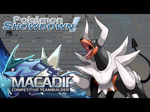 Mega Houndoom Pokemon Showdown UU Sun Team Building w. macadii (Smogon ORAS UU Sun Team)