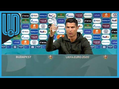Cristiano Ronaldo desprecia y quita refresco en plena conferencia