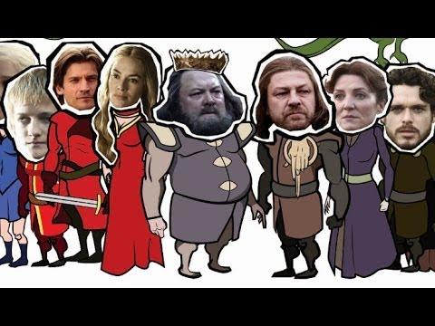 BIG MAP RECAP: Game of Thrones Season 1!
