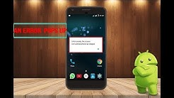 unfortunately the process com android phone has stopped