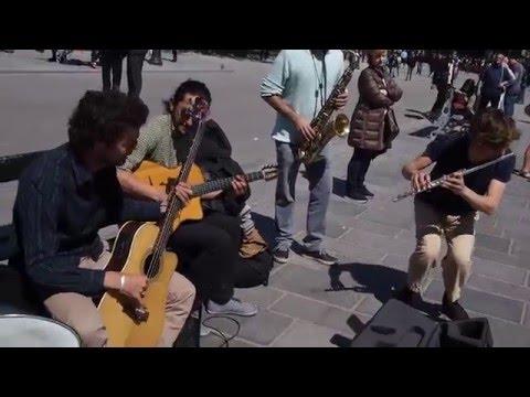 Jazz Street Musicians in Paris - Bernie's Tune - Notre Dame, May 5, 2016