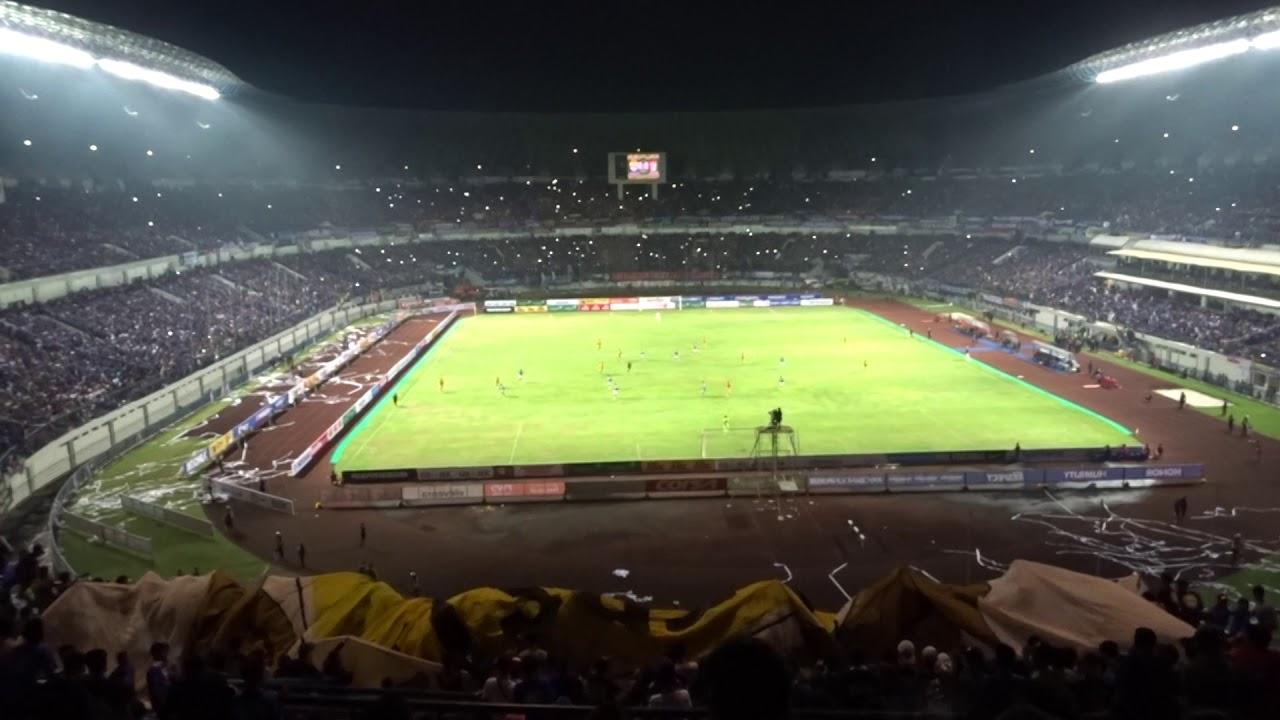 Suasana Dari Tribun Utara Stadion Gbla Persib Vs Mitra Kukar