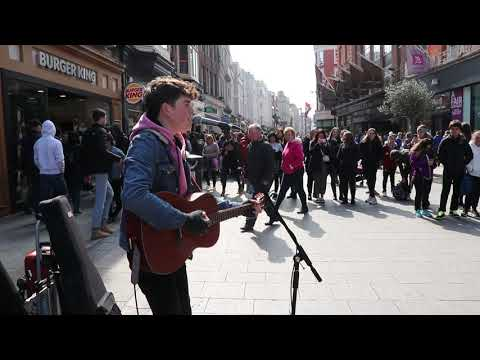Padraig Cahill Live Cover of Photograph from Grafton Street Dublin