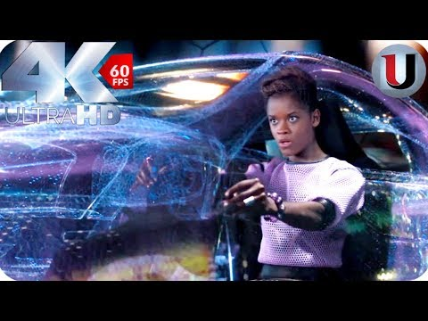 Black Panther - Car Chase In South Korea Scene - MOVIE CLIP (4K HD)