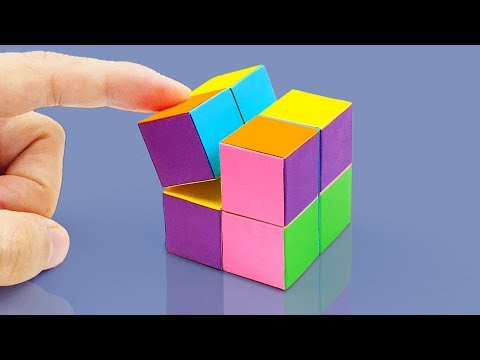 How To Make An INFINITY CUBE Out Of Paper!