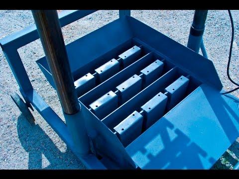 Вибропресс для производства шлакоблока - YouTube