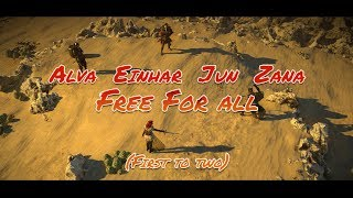 Alva vs Einhar vs Jun vs Zana: Free for all!