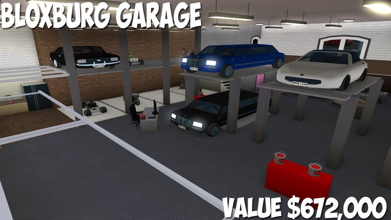 Bloxburg Garage 672 000 Youtube