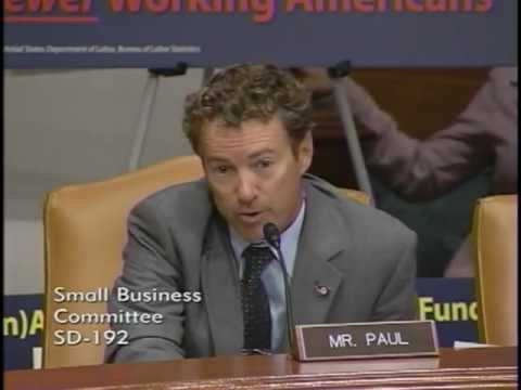 Sen. Rand Paul Questions Treasury Sec. Tim Geithner at Hearing - 10/18/11