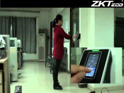 ZKTeco Facial indentification time and attendance device.mpg