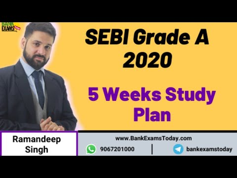 SEBI Grade A 2020 - 5 Weeks Study Plan