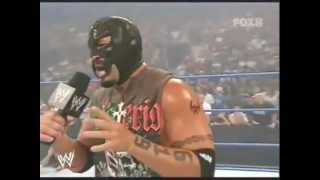Chavo Guerrero dressed as Rey Mysterio (Rey Mysterio fake return) 8.10.07