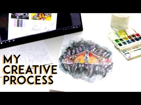 My Creative Process from Start To Finish ·   Creating a Pain