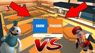 PINGUIM GLITCH VS SNOWMAN GLITCH NO JAILBREAK ROBLOX