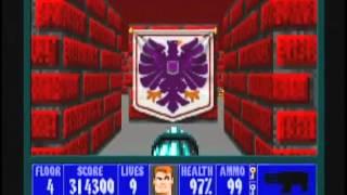 Wolfenstein 3D (100%) Walkthrough (E5M4)