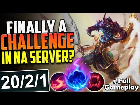 FINALLY A CHALLENGE IN NA SERVER? | DELAY MAKES IT WORTH | Cho'Gath vs Teemo TOP SEASON 8 Gameplay
