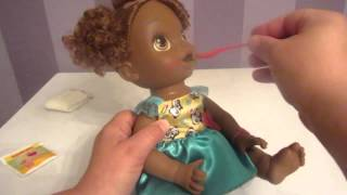 My new African American Baby Alive Unboxing, Feeding, Changing and Need Help Naming her!