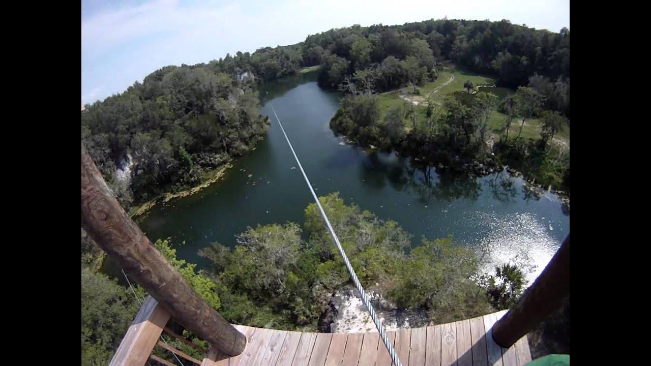 & THE CANYONS ZIPLINE OCALA FLORIDA - YouTube
