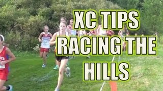 Cross Country Hill Running in a Race
