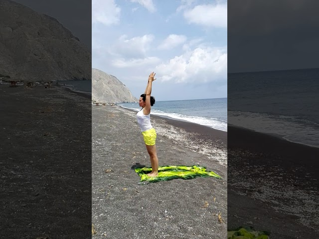 Yoga in Perissa, Santorini