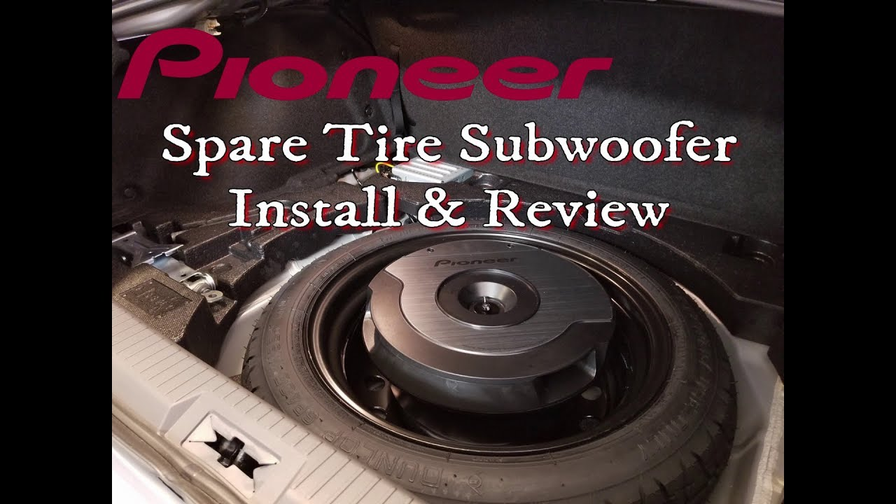 pioneer ts wx610a spare tire subwoofer review install. Black Bedroom Furniture Sets. Home Design Ideas