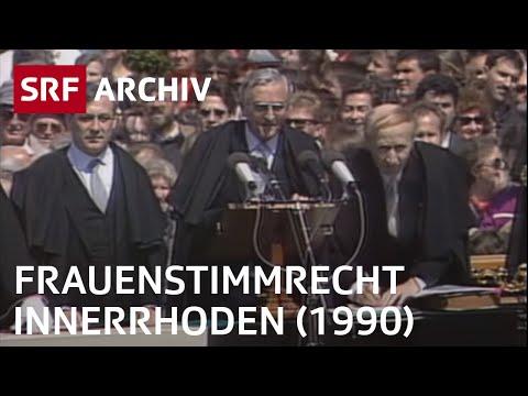 Einführung Frauenstimmrecht Appenzell-Innerrhoden (1990) | SRF Archiv