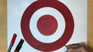 How to Draw the Target Logo   Logo Drawing