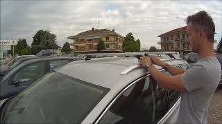 how to fit roof bars vw passat estate