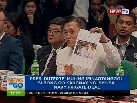 Pres. Duterte, muling ipinagtanggol si Bong Go kaugnay ng isyu sa Navy frigate deal