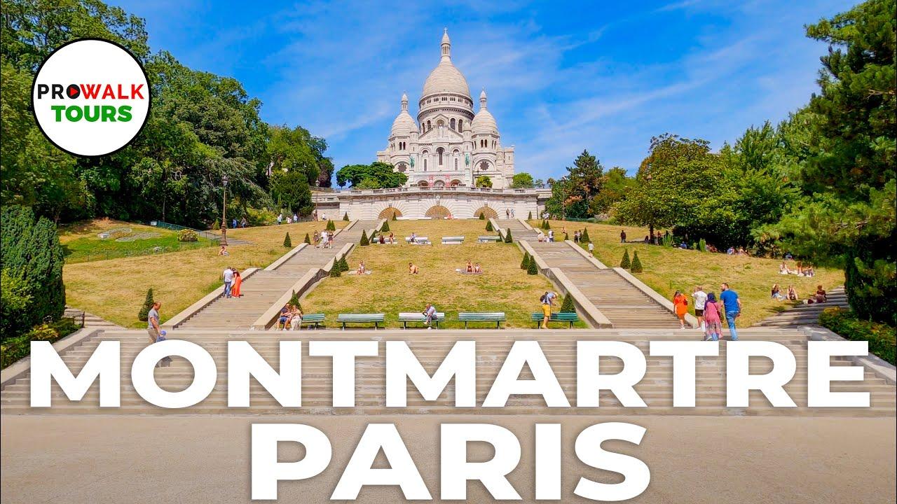 Montmartre, Paris Walking Tour 4K - with Captions!