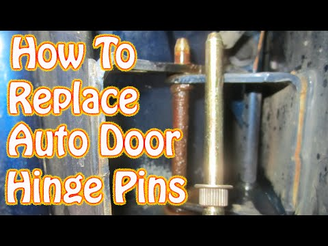 DIY Door Hinge Pin & Bushing Replacement How to Fix a Sagging Door Chevy S10 Ford Dodge GMC
