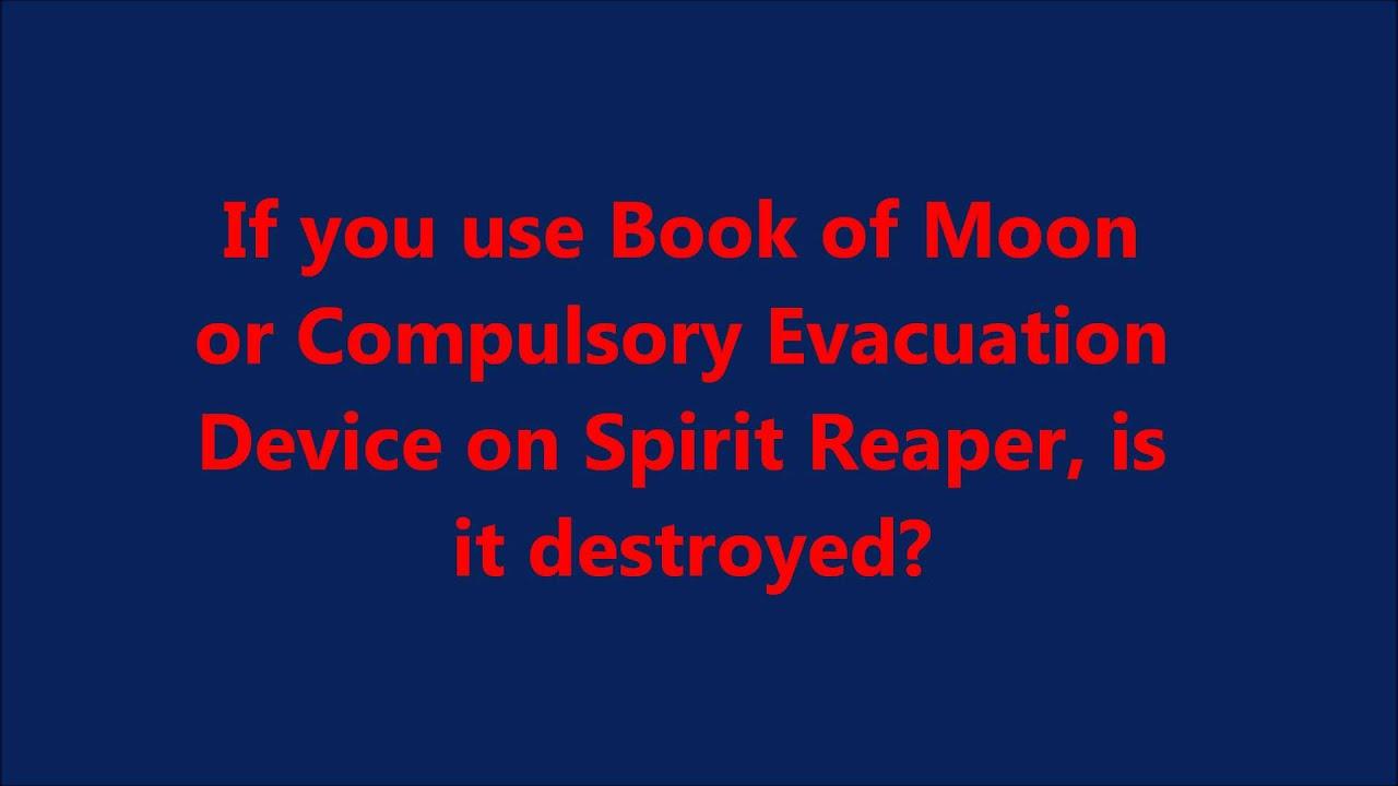 Rulings - Spirit Reaper vs Book and Compulsory