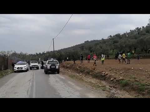 Illegal immigrants on Lesvos cough on Greek police