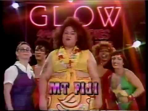 Mountain Fiji vs Widow & Star Handicap Match GLOW Gorgeous Ladies of Wrestling