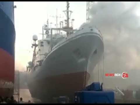 Российский траулер загорелся в Пусане