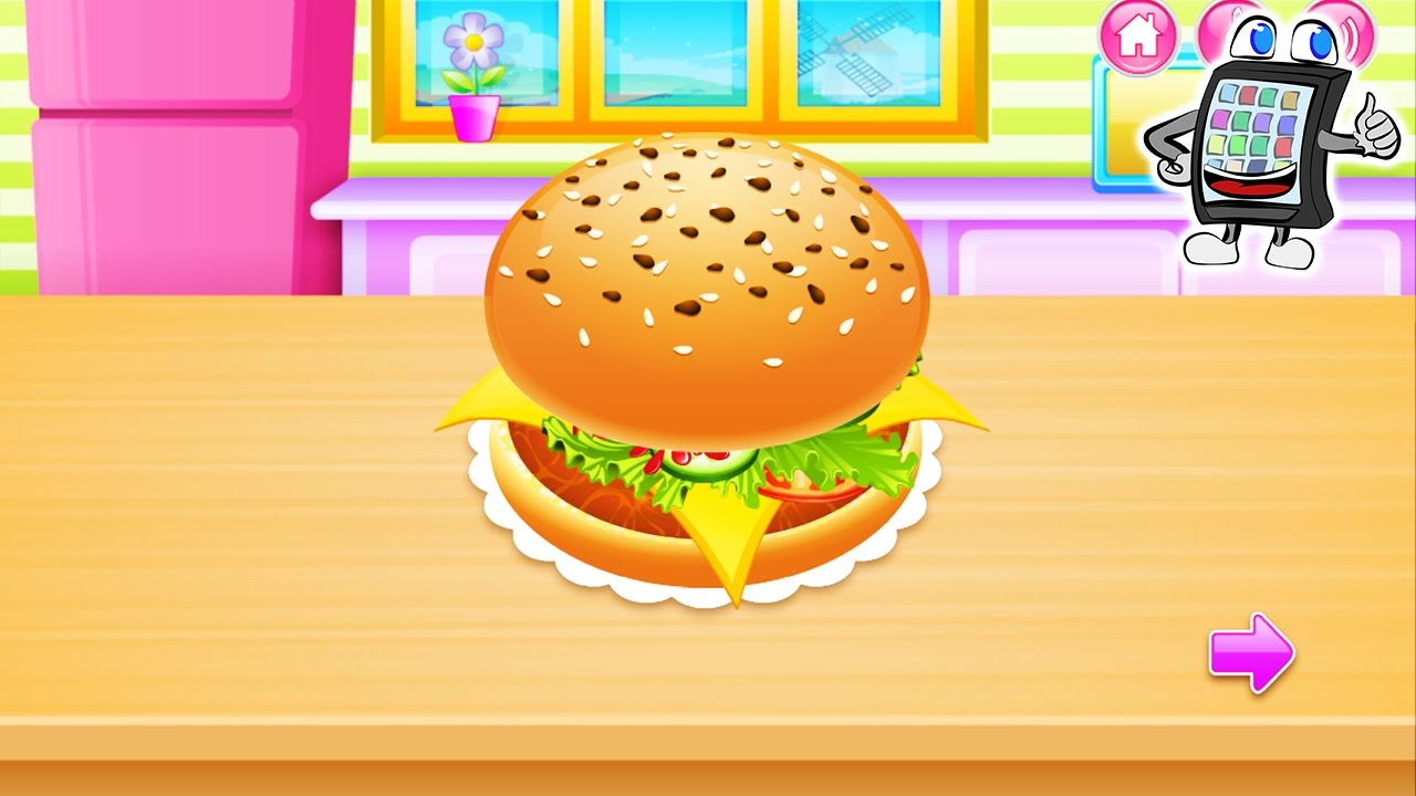 kids cooking app deutsch burger pommes selber machen spiel mit mir games youtube. Black Bedroom Furniture Sets. Home Design Ideas