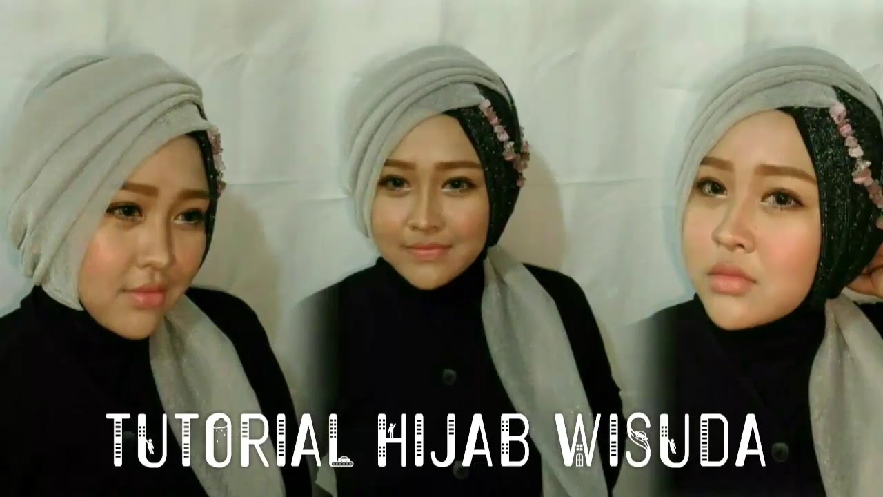 Tutorial Hijab Wisuda 1 Gurit Mustika YouTube