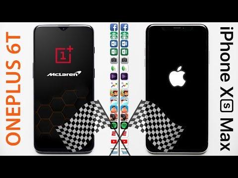 OnePlus 6T (10 GB RAM) Vs. IPhone XS Max Speed Test