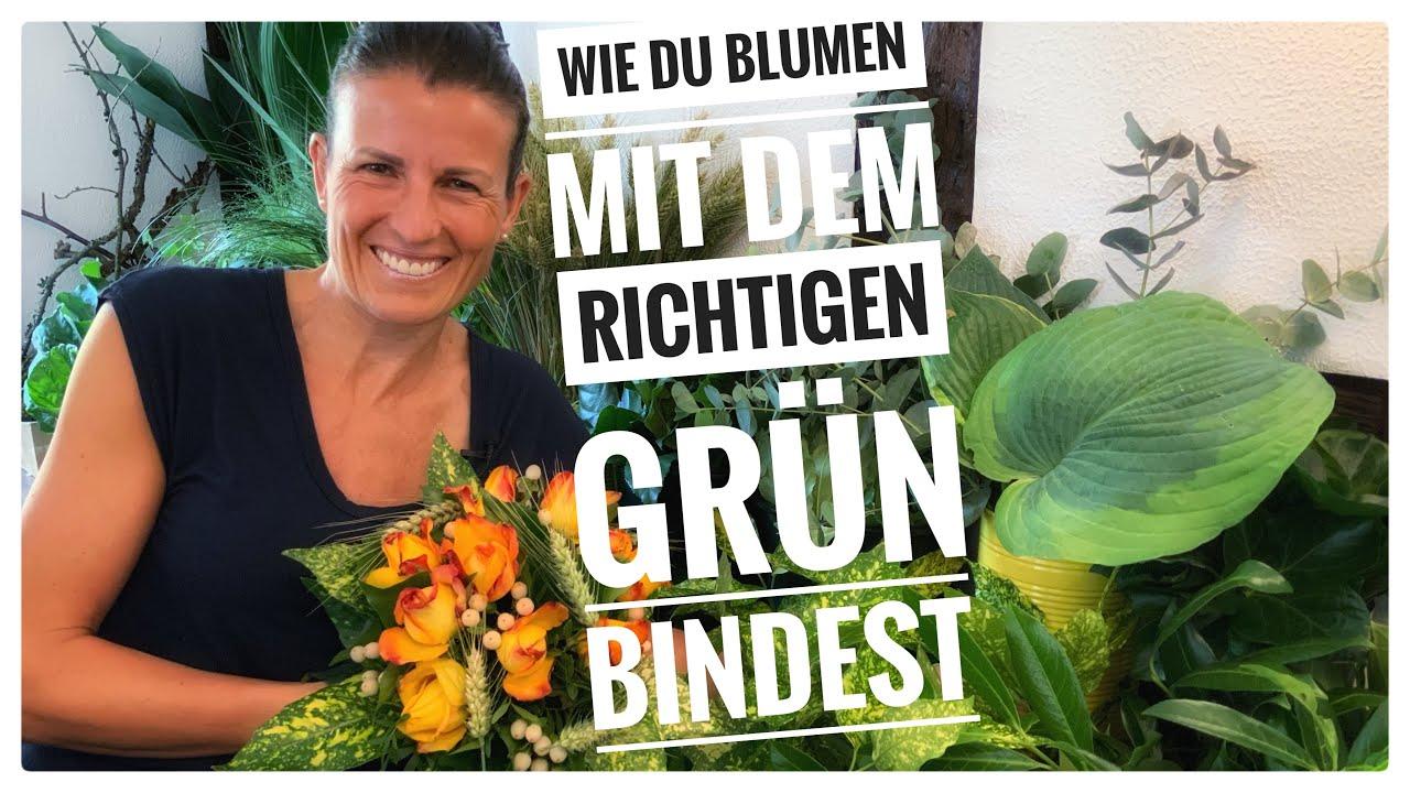 Blumenstrauß binden wie ein Profi: Anleitung für die Verwendung von Grün DIY Dekoideen Floristik