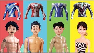 Wrong Clothes Ultraman Ribut Shiva ANTV Reva Adi Uday Finger Family Nursery Rhymes for Kids Toddlers