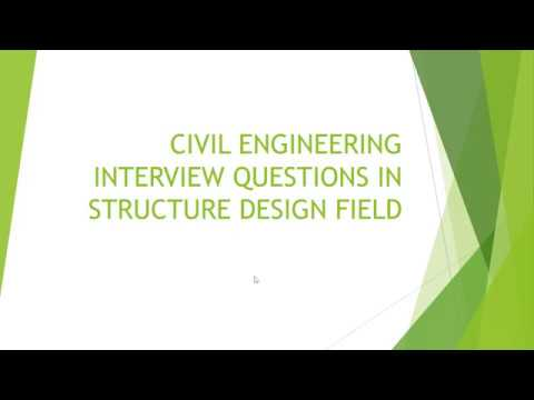 Module 2 Civil Engineering Structure Design Interview Questions Youtube