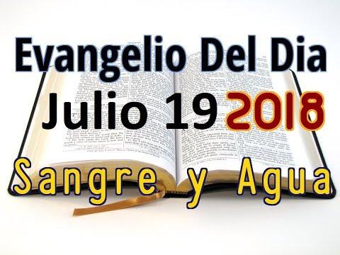 Evangelio del Dia- Jueves 19 Julio 2018- Porque Mi Yugo Es Suave- Sangre y Agua