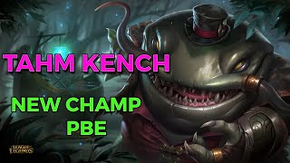 TAHM KENCH | Nouveau Champion | Gameplay League of Legends DominGo